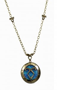 The Mortal Instruments - City Of Bones - Blue stone Necklace as worn by Cassie at Comic Con 2013