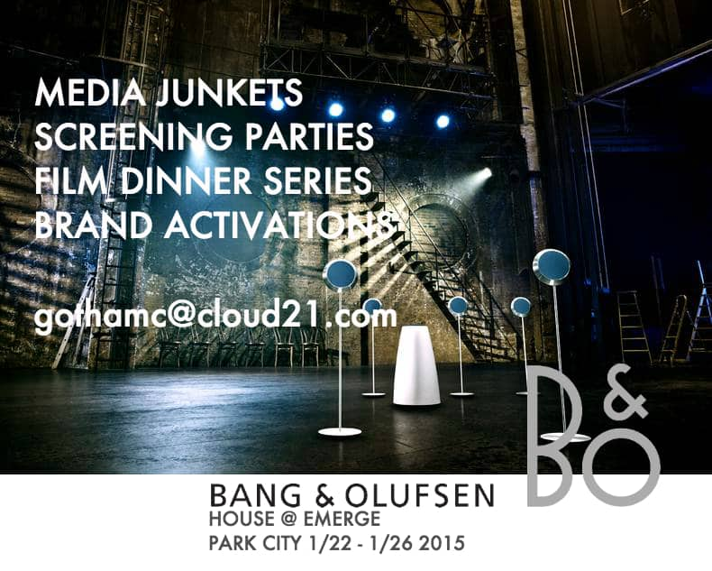 Bang and Olufsen House during Sundance Film Festival 2015